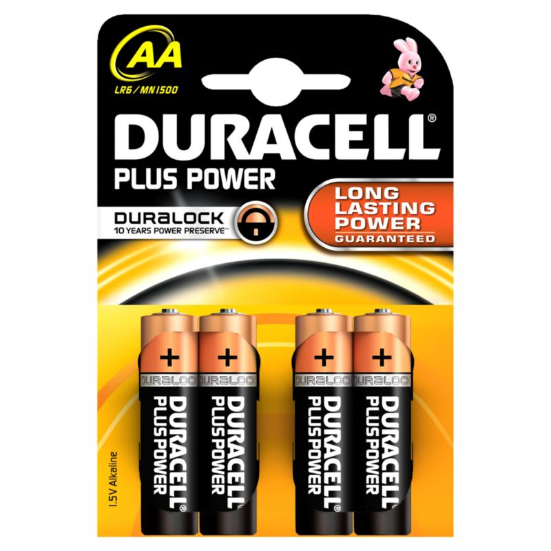 DURACELL Plus Power Batterie Mignon AA LR6 4er Blister