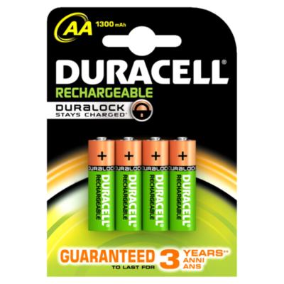 Duracell  StayCharged Akku Mignon AA HR6 2500mAh 4er Blister | 5000394057043
