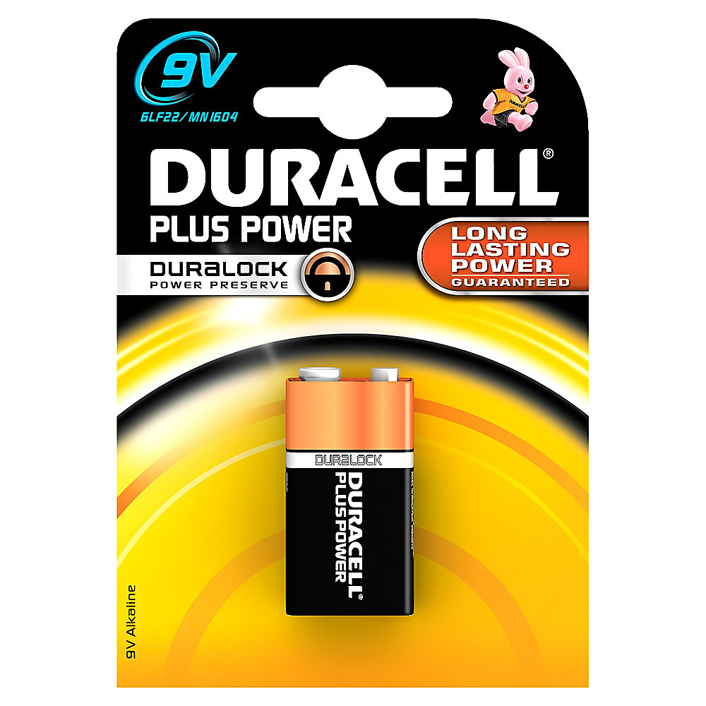 DURACELL Plus Power Batterie 9V Block 1604D 1er Blister