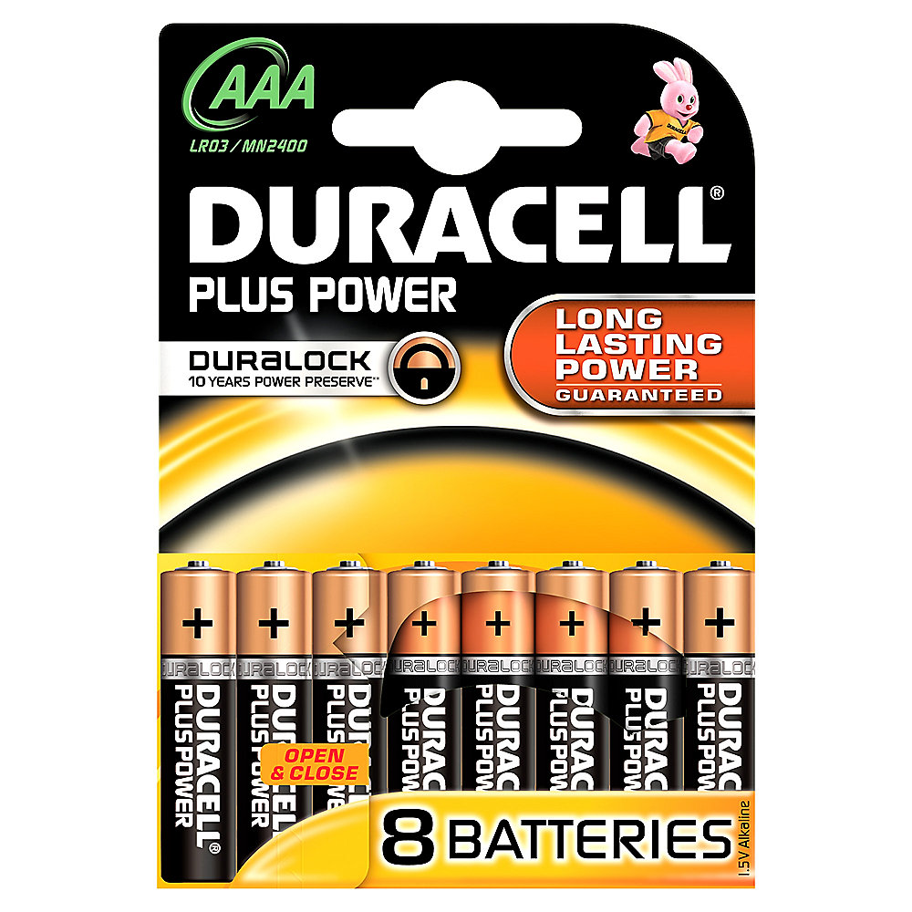 DURACELL Plus Power Batterie Micro AAA LR3 8er Blister