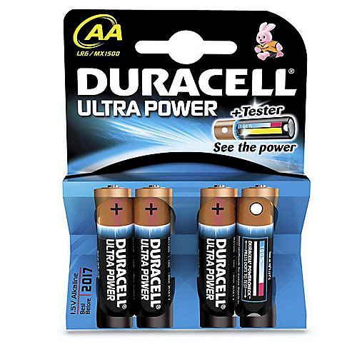 DURACELL Ultra Power Batterie AA 4er Blister