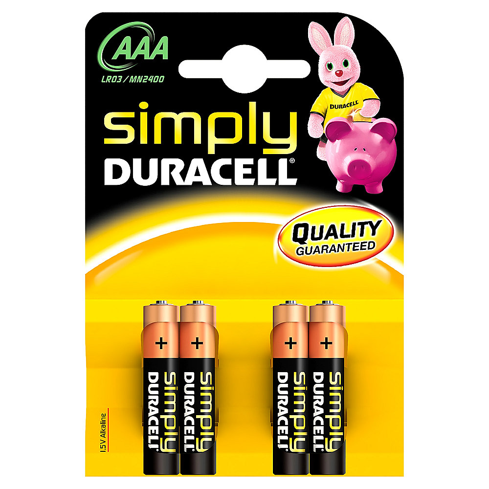 DURACELL Simply Batterie Micro AAA LR3 4er Blister