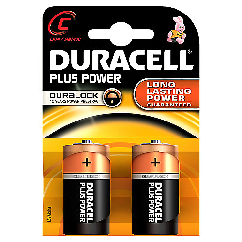 DURACELL Plus Power Batterie Baby C LR14 2er Blister