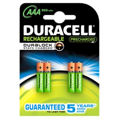Duracell  StayCharged Akku Micro AAA HR3 850mAh 4er Blister | 5000394203822