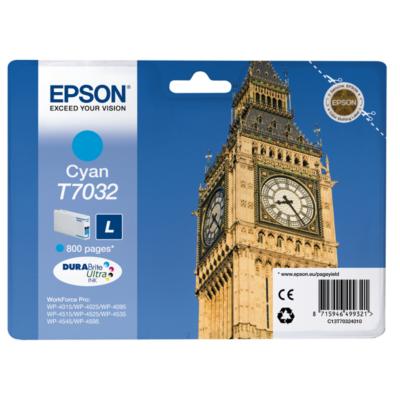 Epson  C13T70324010 Druckerpatrone T7032 cyan mit hoher Kapazität | 8715946499321