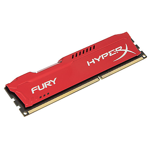 8GB Kingston HyperX Fury rot DDR3-1600 CL10 RAM