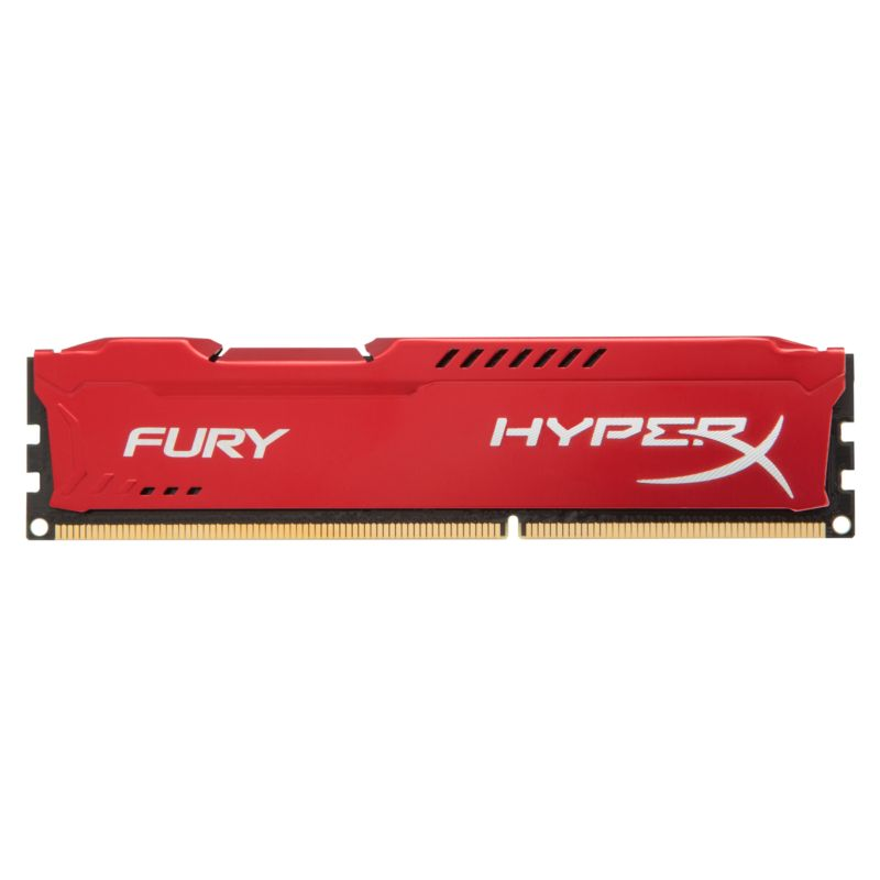 8GB (2x 4GB) Kingston HyperX Fury rot DDR3-1866 CL10 RAM Kit
