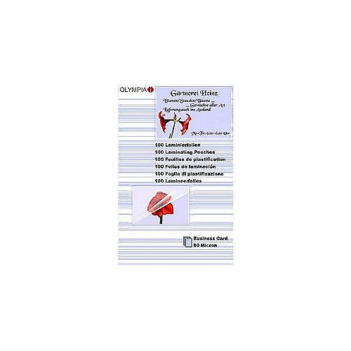 Olympia Laminierfolien Visitenkarte 80 micron (...