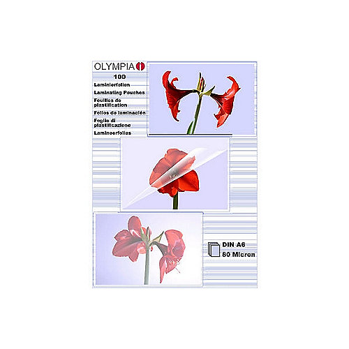 Olympia Laminierfolien DIN A6 80 micron (100 St...