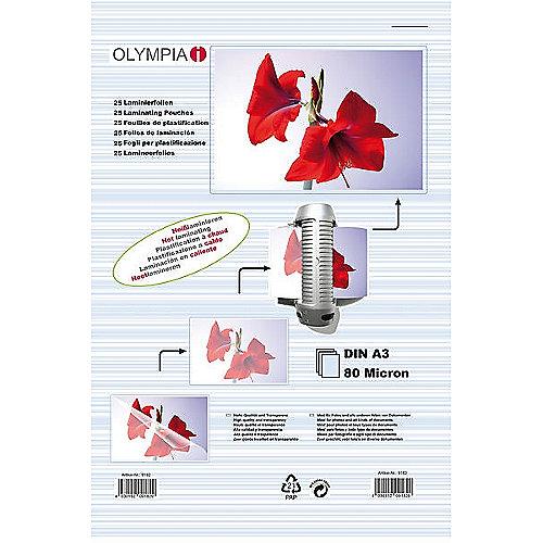 Olympia Laminierfolien DIN A3 80 micron (25 Stück)