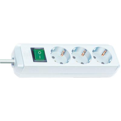 Brennenstuhl  Eco-Line Steckdosenleiste mit Schalter 3-fach 5m weiß | 4007123081578