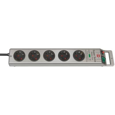 Brennenstuhl  Super-Solid Überspannungsschutz-Steckdosenleiste 5-fach 2,5m silber | 4007123174225