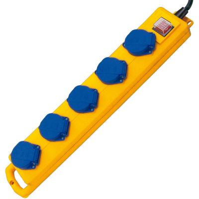 Brennenstuhl  Super-Solid SL 544 D IP44 Steckdosenverteiler 5-fach 2m gelb | 4007123100156