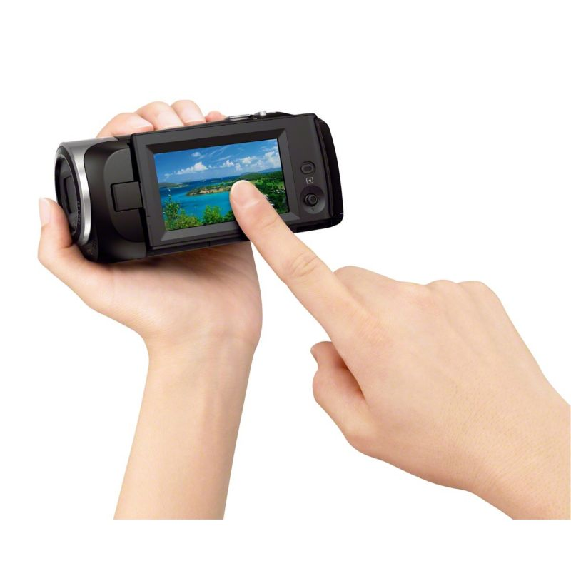 Sony HDR-CX240E schwarz Full HD Flash Cam­cor­der