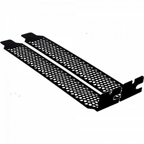 InLine PCI Slotblech perforiert 2er Pack schwarz