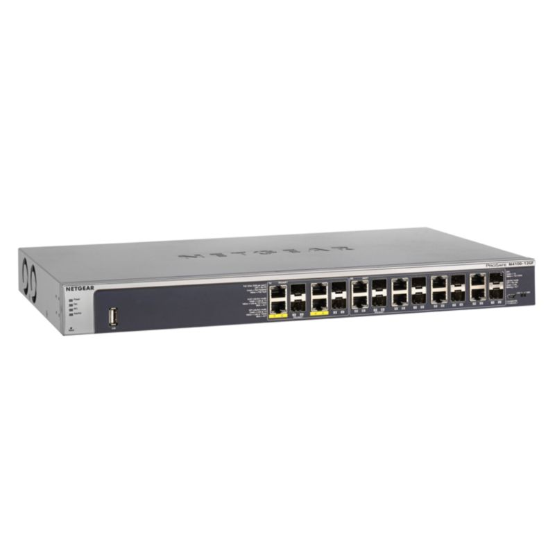 Netgear M4100 (GSM7212F-100NES) 12x Gigabit SFP Managed Switch (4xPoE)