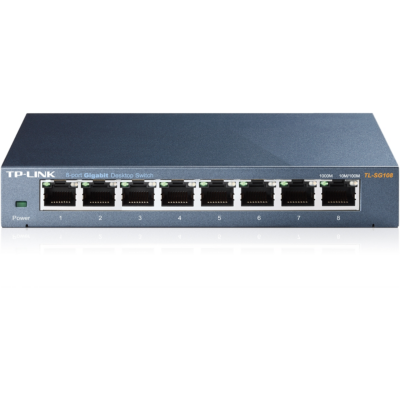 TP-Link  TL-SG108 8x Port Desktop Gigabit Switch Metall | 6935364098117