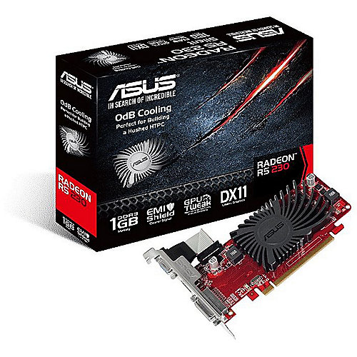 Asus AMD Radeon R5 230 SL-1GD3-L 1GB DVI/HDMI/VGA Passiv Low Profile Grafikkarte