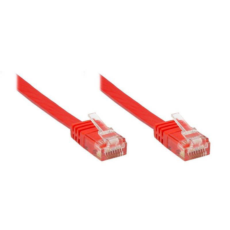 Good Connections Patchkabel Cat. 6 ungeschirmt Flachkabel rot 1m