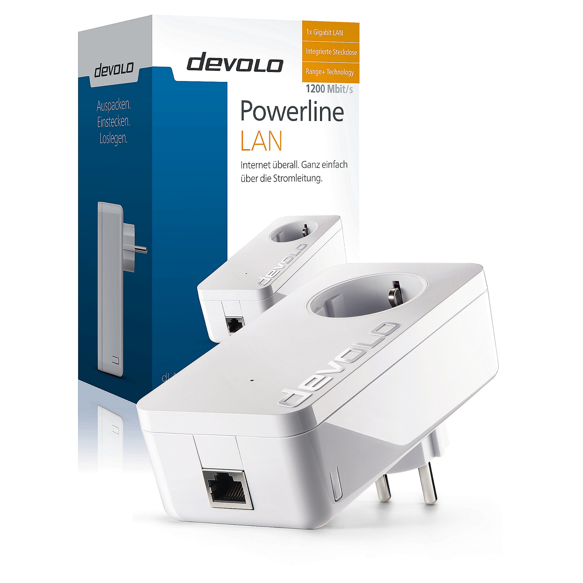 devolo dLAN 1200+ Powerline Einzeladapter
