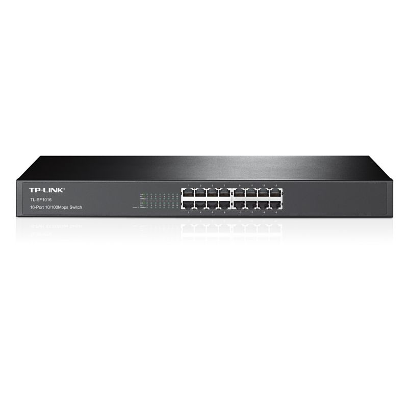 TP-Link TL-SF1016 16x Port Switch Unmanaged 19-Zoll-Stahlgehäuse