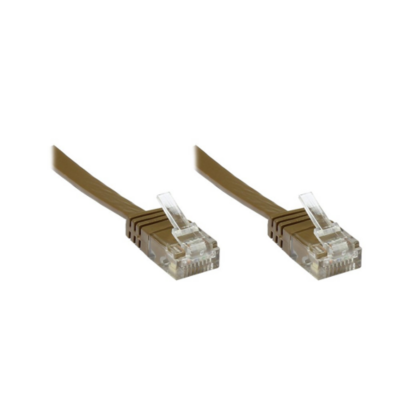 Good Connections  Patchkabel Cat. 6 ungeschirmt Flachkabel braun 5,0m | 4014619562961