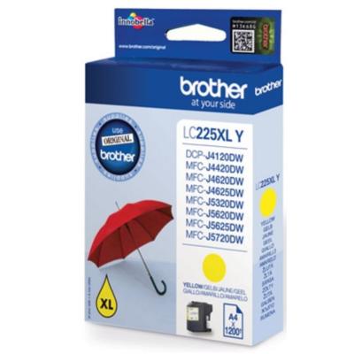 Brother  LC-225XLY Druckerpatrone gelb 1.200 Seiten | 4977766735971