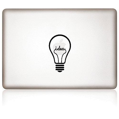 Apfelkleber iDea Aufkleber-Folie für MacBook schwarz