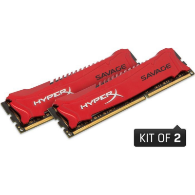 HyperX 16GB (2x8GB)  Savage rot DDR3-1866 CL9 RAM Kit | 0740617234510