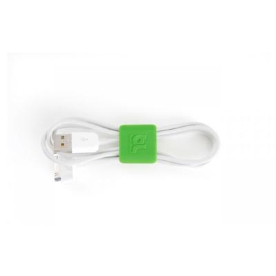 Bluelounge  CableClip Kabelbinder klein grau / grün | 0705105462332