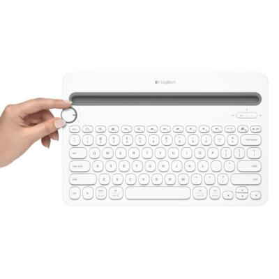 Logitech  K480 Kabellose Bluetooth Tastatur für bis zu 3 Geräte Weiß 920-006351 | 5099206052710