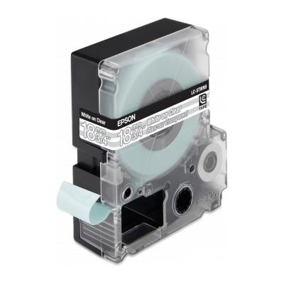 Epson  C53S626406 LC-5TBN9 Bandetiketten schwarz auf transparent 18mmx9m | 8715946498874