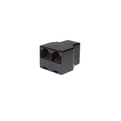 Good Connections  ISDN Verteiler RJ45 zu 2x RJ45 Adapter Bu./Bu. schwarz | 4014619096466