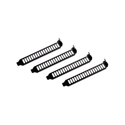 SilverStone Slotblech Blende Aeroslots schwarz, 4 Stück