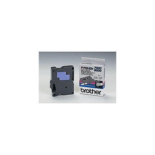 Brother TX221 Schriftbandkassette 9 mm x 15 m schwarz auf weiß | 4977766051392