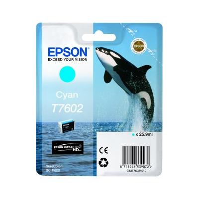 Epson  C13T76024010 Druckerpatrone T7602 Cyan SC-P600 | 8715946539072