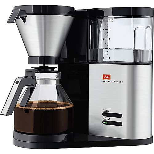 Melitta Aroma Elegance 1012-01 Kaffeemaschine Schwarz/Edelstahl | 4006508210305