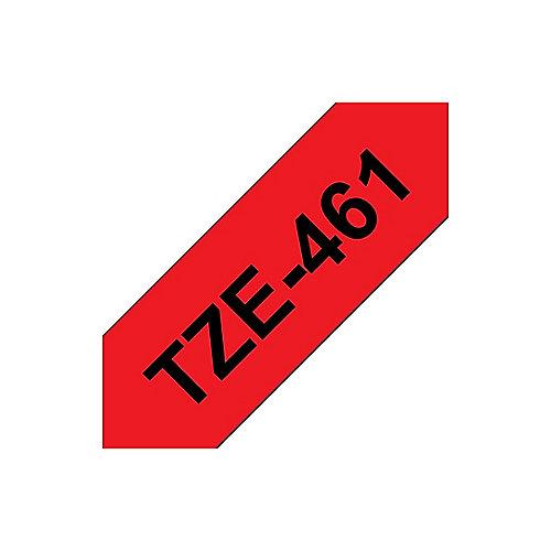 Brother TZe-461 Schriftband, 36mm x 8m , schwarz auf rot, laminiert | 4977766686389