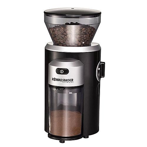 Rommelsbacher EKM 300 Kaffeemühle mit Kegelmahlwerk Schwarz/Silber | 4001797864000