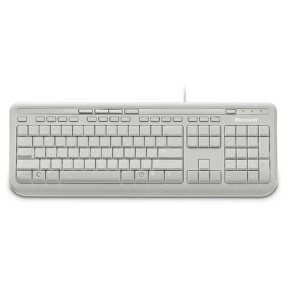 Microsoft Wired Keyboard 600 Weiss