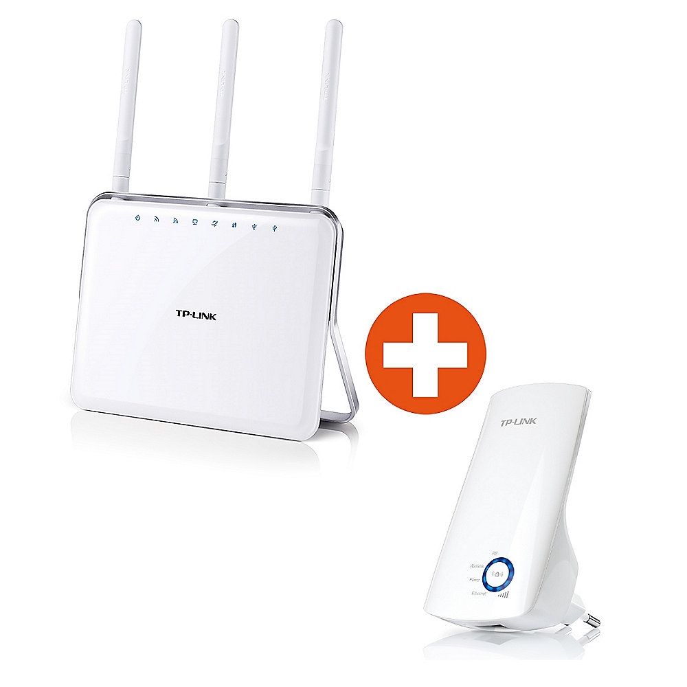 TP-LINK AC1900 Archer C9 Gigabit WLAN-ac Router inkl. TL-WA850RE WLAN Repeater