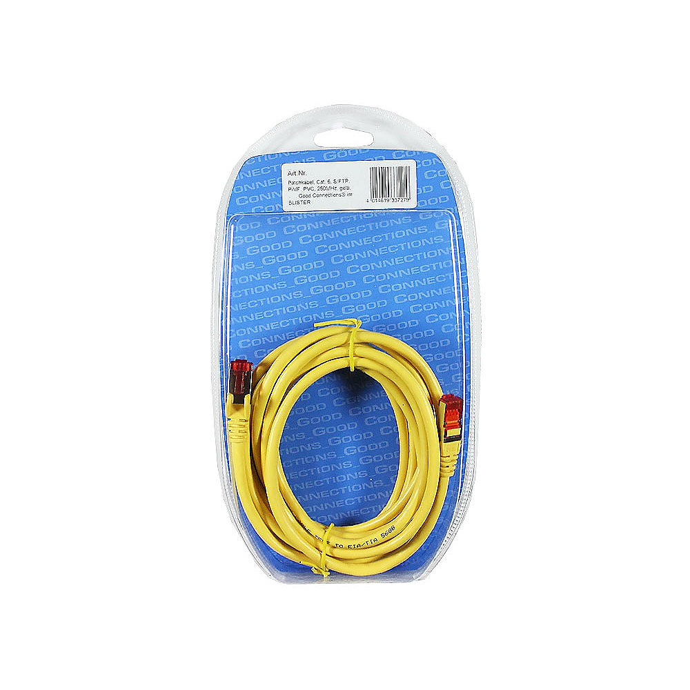 Good Connections Patchkabel Cat. 6 2x RJ45 Stecker BLISTER blau 10m