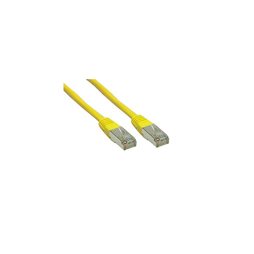 Good Connections Patchkabel Cat. 6 2x RJ45 Stecker BLISTER gelb 1m