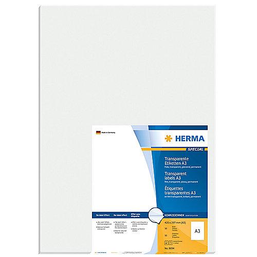 HERMA 8694 A3 Outdoor Klebefolie 297×420 mm transpar extrem stark haftend 50Stk. | 4008705086943