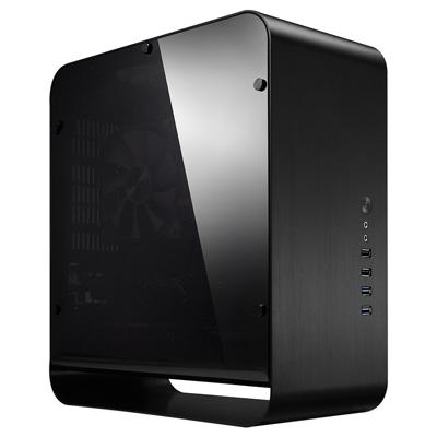 Cooltek  UMX1 Plus Mini Tower ITX Gehäuse USB3.0 schwarz mit Seitenfenster | 4250140368355