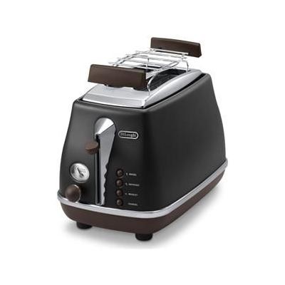Delonghi  CTOV 2103.BK Icona Vintage Toaster schwarz   8004399761315