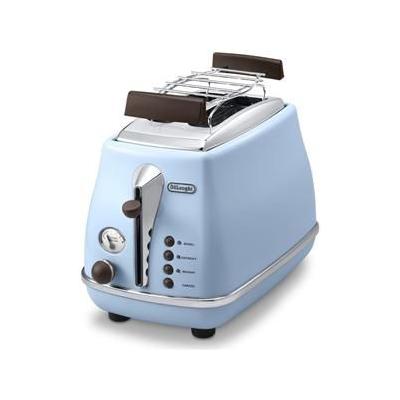 Delonghi  CTOV 2103.AZ Icona Vintage Toaster blau   8004399761339