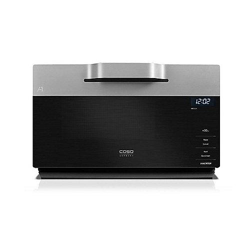 Caso IMCG25 Inverter-Mikrowelle mit Grill und Heißluft  Schwarz/Silber | 4038437033595