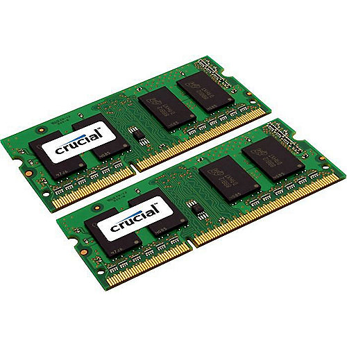 8GB (2x4GB) Crucial DDR3-1066 CL7 PC3-8500 SO-DIMM 1,5V RAM Kit für MacBook