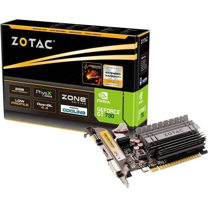 Zotac GeForce GT 730 Zone Edition 2GB DDR3 Grafikkarte 2x DVI/HDMI/VGA
